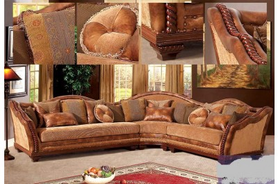 Burnt Camel Fabric Sectional 706 - M