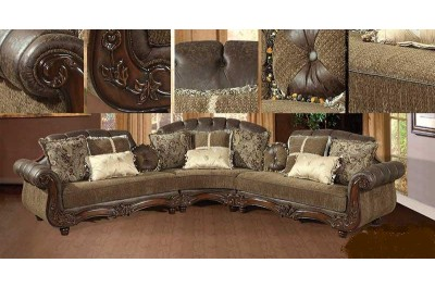 Golden Brown Fabric Sectional 317 - M