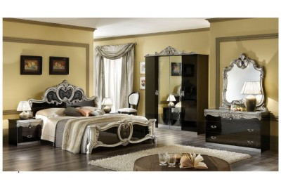 Barocco Black w/Gold Bedroom -N