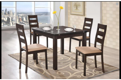 0796 Modern extendable wenge color dining table