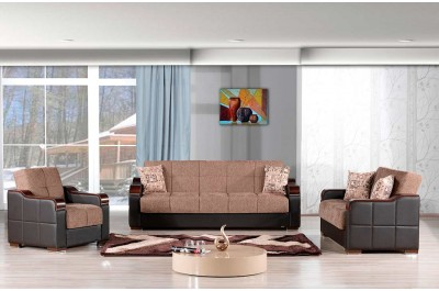 Brown Fabric Sofa Bed Medal