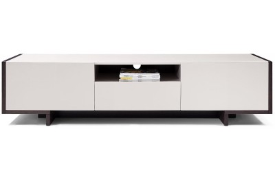 TV100 - Modern Glossy Grey TV Unit - GE