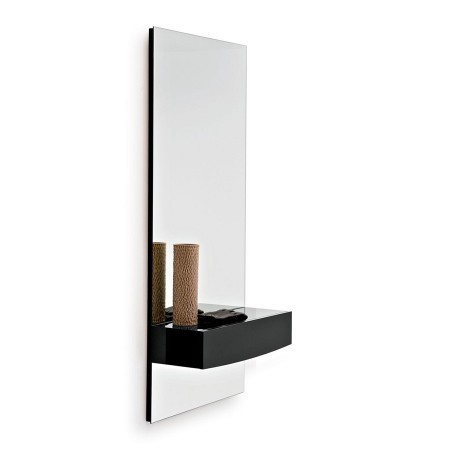 Calligaris morgan mirror with shelf hall units hallway for Hallway mirror and shelf