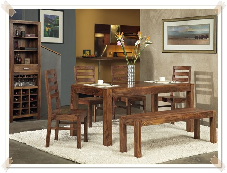 Jen solid wood dining table mo star modern furniture for Table 6 wildwood mo
