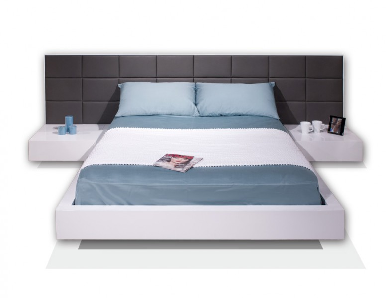 Sharon Lacquer Platform Bed Sharelle Furnishings