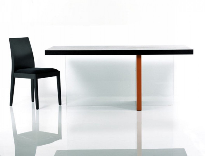 Vision   Modern Black Glossy Floating Dining Table