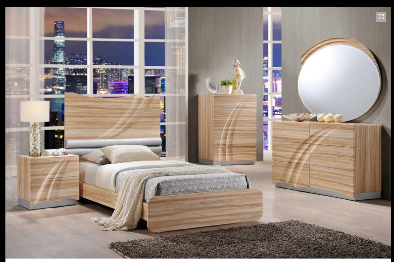 Lotus moder maple lacquered bedroom set star modern furniture - Contemporary maple bedroom furniture ...