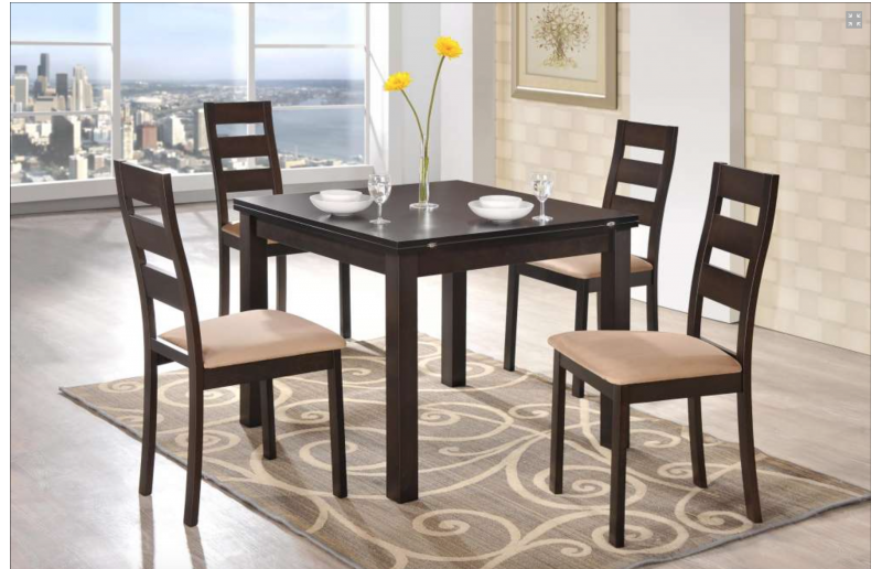 0796 Modern extendable wenge color dining table Modern Dining