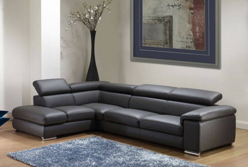 Nicoletti Angel Leather Sectional Sofa Star Modern Furniture
