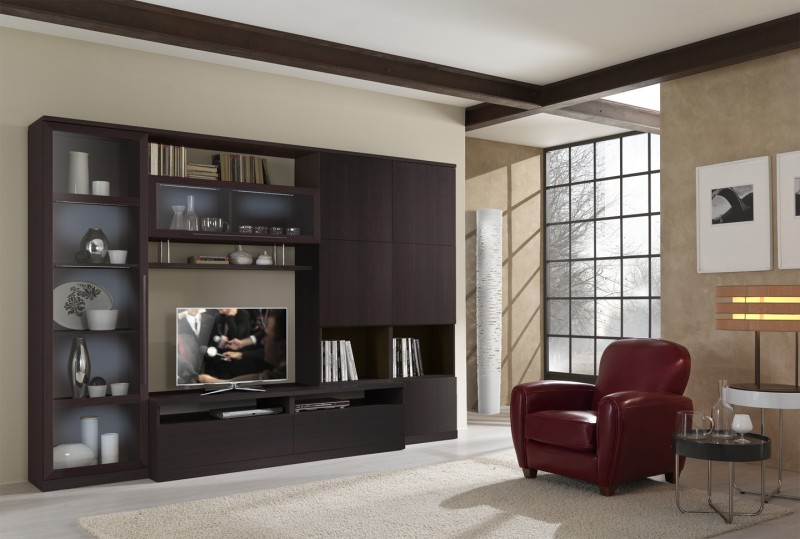 Modern Entertainment Wall Unit   Entertainment Centers And Walls   TV .