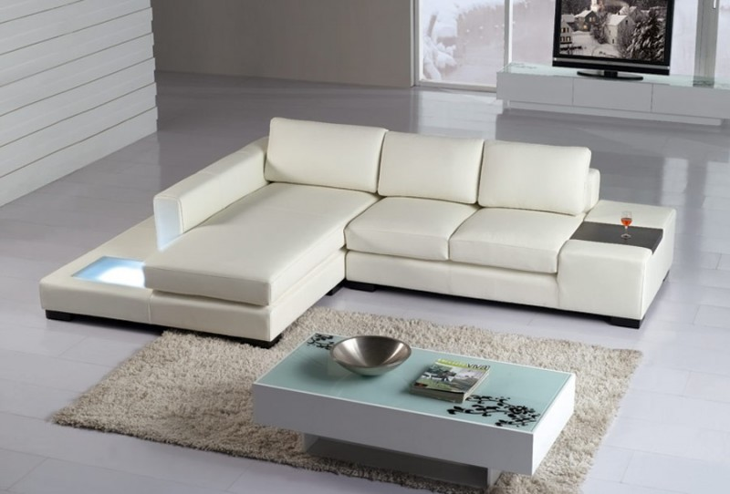 Mini Modern Leather Sectional Sofa Leather Sectionals