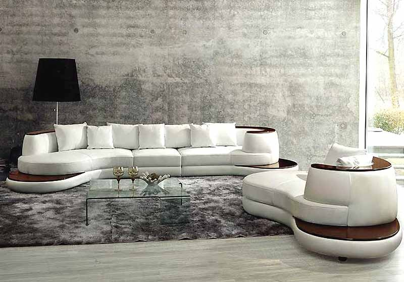 501 Top Grain Italian Leather 3 Pieces Sectional Leather