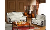 162 Leather Sofa, Loveseat, and Chair