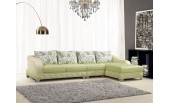 7427 Leather Sectional with Chair