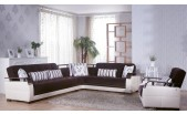 Orlando Sectional Sofa Bed In Dark Brown Color