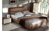 50% OFF May Eastern King walnut bed with 2 nightstands