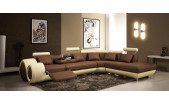 7804 Modern Leather Sectional Sofa with Recliners-GE