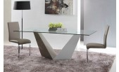 Vertex - Contemporary Glass Dining Table