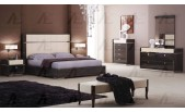 Modern Lacquered Ebony Bedroom Set EA-001