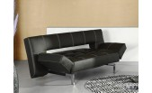 B11 Black Leather Sofa Bed