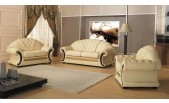 Cleopatra - Traditional Leather Sofa Set