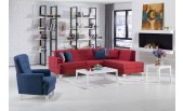 Cantil Sectional (Zigana Marsala/Dark Blue)