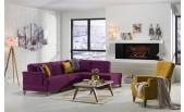 Cantona Sectional (Zigana Purple/Yellow) sofabed