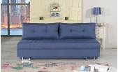 Blue Queen size Fabric Sofa Bed Avana