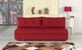Red Queen size Fabric Sofa Bed Avana