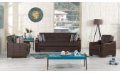 Politan Sofabed – Brown Leatherette