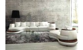 501 Top Grain Italian Leather 3 pieces Sectional