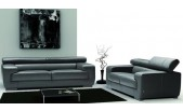 Nicoletti Grace Sofa 100% Full Italian Leather Instock in Dark grey