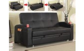 Black Simulated Leather Sofa-bed - B 461