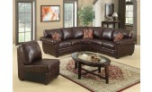 Brown Simulated Leather Sectional - B 527