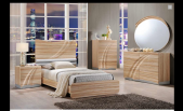 Lotus Moder Maple Lacquered Bedroom Set