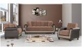 Brown Fabric Sofa Bed Duncan