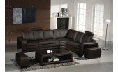 0333 Espresso Leather Sectional-GE