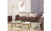 Microfiber Brown Sofa-bed Even