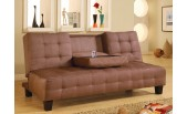 Co-732 Sofa Bed. Microfiber or Brown Leather Match