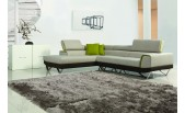 1361 - Modern Fabric Sectional Sofa with Retractable Headrests - GE