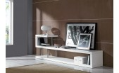 WIN 5 Modern White Lacquer TV Stand Entertainment Center Room Divider