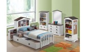 Docina White and Chocolate Finish Youth Bedroom Set