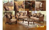 Chocolate Fabric Sofa 180D - M