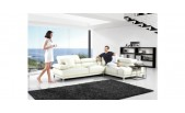 T290 - Modern Leather Sectional Sofa - GE