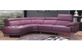 Modern Purple Leather Sectional 0298 -MA