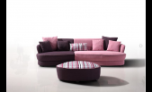 Modern Fabric Sofa and Ottoman