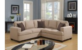 Beige Fabric Sectional - B 203