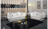 D6002 - Modern Pearl White Sectional Sofa - GE
