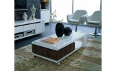 Nino - Modern White and Walnut Coffee Table-G