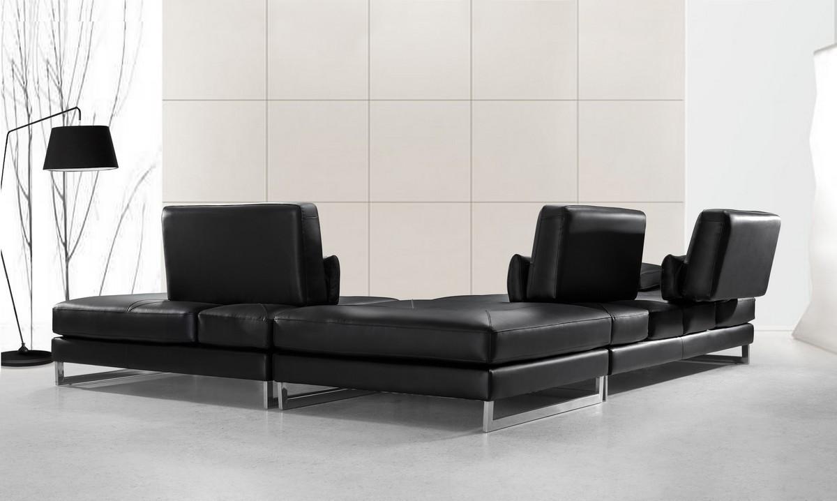 Tango Modern Leather Sectional Sofa Ge Leather